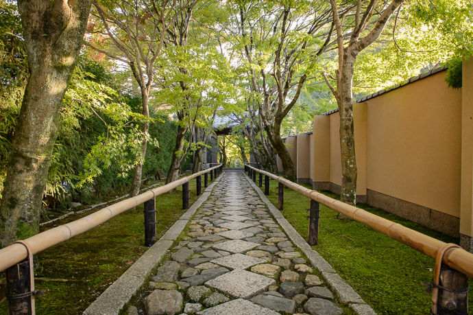 Lovely Entrance Path Koetsu-ji Temple (光悦寺) -- Koetsu-ji Temple (光悦寺) -- Kyoto, Japan -- Copyright 2017 Jeffrey Friedl, http://regex.info/blog/ -- This photo is licensed to the public under the Creative Commons Attribution-NonCommercial 4.0 International License http://creativecommons.org/licenses/by-nc/4.0/ (non-commercial use is freely allowed if proper attribution is given, including a link back to this page on http://regex.info/ when used online)