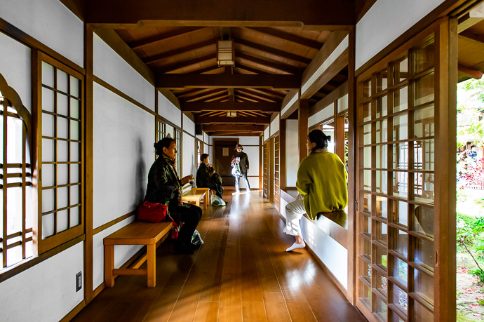 Hallway with Nice Light -- Sanzen-in Temple (三千院) -- Kyoto, Japan -- Copyright 2018 Jeffrey Friedl, http://regex.info/blog/ -- This photo is licensed to the public under the Creative Commons Attribution-NonCommercial 4.0 International License http://creativecommons.org/licenses/by-nc/4.0/ (non-commercial use is freely allowed if proper attribution is given, including a link back to this page on http://regex.info/ when used online)