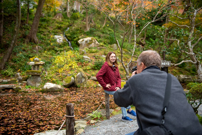 Quick Portrait at the Sanzen-in Temple 三千院、Kyoto Japan -- Sanzen-in Temple (三千院) -- Copyright 2018 Jeffrey Friedl, http://regex.info/blog/