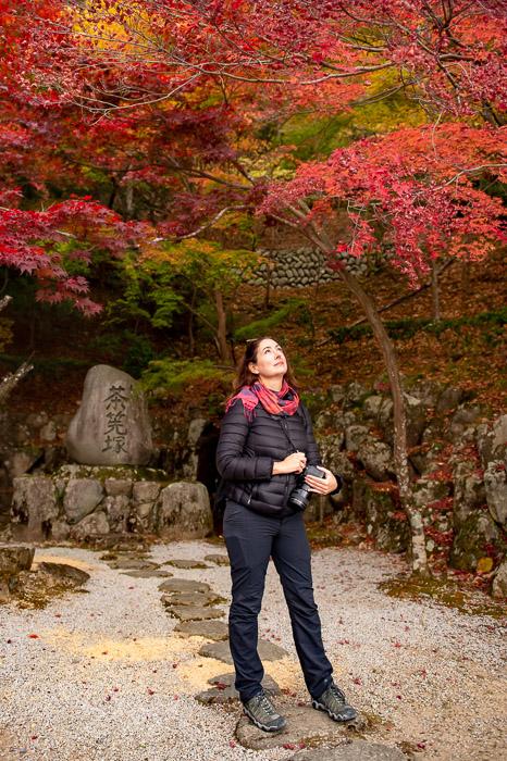 Valerie Wigglegram at the Eigenji Temple