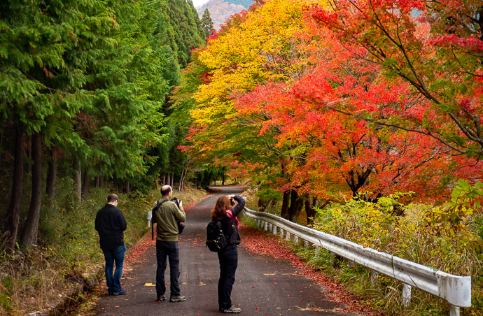 Middle of Nowhere Patrick, Damien, and Valerie in Shiga Prefecture, Japan -- Higashiomi, Shiga, Japan -- Copyright 2018 Jeffrey Friedl, http://regex.info/blog/