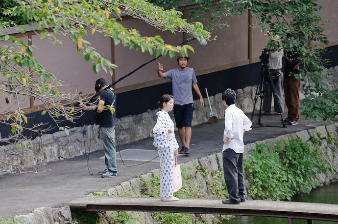 Movie Shoot outside my livingroom window -- Kyoto, Japan -- Copyright 2008 Jeffrey Eric Francis Friedl