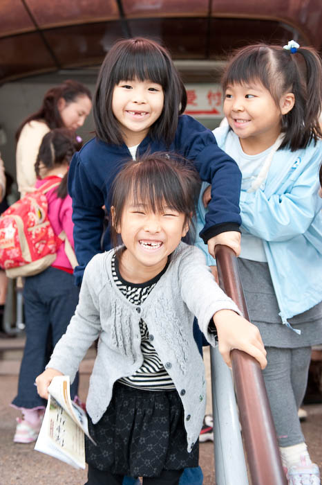 a few of Anthony's classmates Waiting for the Boat in good spirits -- Kyoto, Japan -- Copyright 2008 Jeffrey Friedl, http://regex.info/blog/
