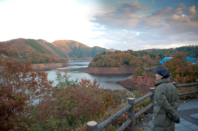 View from Hiyoshi Dam Nantan City, Kyoto, Japan ( yuck, half the sky is blown out, and half has weird clipped colors ) Nantan City / Hiyoshi Dam · Hiyoshi Dam Operator page -- Nantan, Kyoto, Japan -- Copyright 2008 Jeffrey Friedl, http://regex.info/blog/