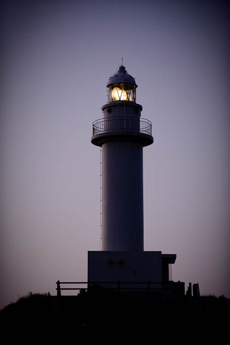 Lonely Lighthouse Oganzaki, Ishigaki City, Okinawa Japan -- Oganzaki Lighthouse -- Ishigaki, Okinawa, Japan -- Copyright 2009 Jeffrey Friedl, http://regex.info/blog/