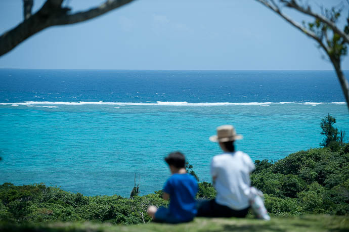 Enjoying the Day Tamatorisaki Lookout, Ishigaki Island, Okinawa Prefecture, Japan ,  -- Ishigaki, Okinawa, Japan -- Copyright 2009 Jeffrey Friedl, http://regex.info/blog/