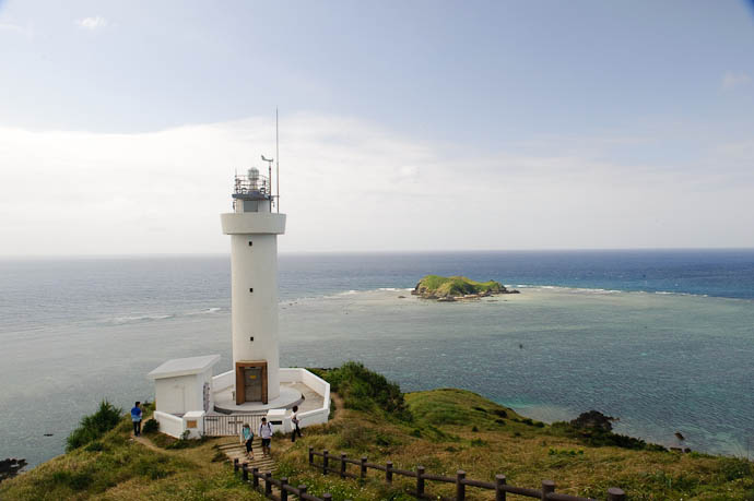 Hirakubo Lighthouse Most northern point of Ishigaki Island, in the far south of Japan in the East China Sea -- Ishigaki, Okinawa, Japan -- Copyright 2009 Jeffrey Friedl, http://regex.info/blog/