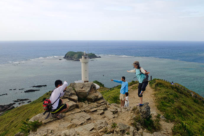 "The ""Karate Kid"" Pose Seemed Popular Here -- Ishigaki, Okinawa, Japan -- Copyright 2009 Jeffrey Friedl, http://regex.info/blog/"
