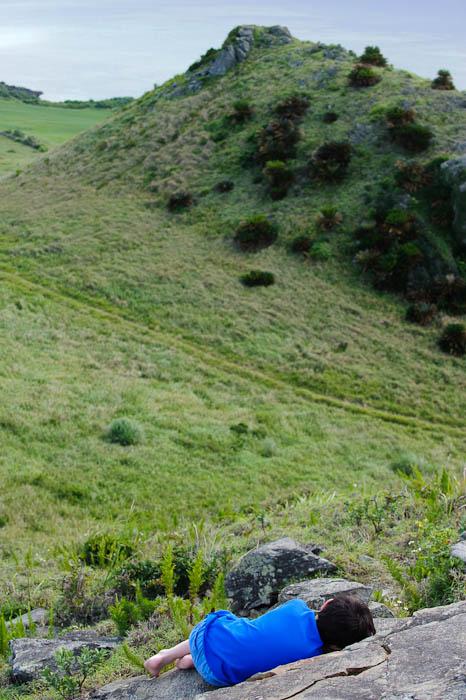 Pretend Dinosaur Nap -- Ishigaki, Okinawa, Japan -- Copyright 2009 Jeffrey Friedl, http://regex.info/blog/