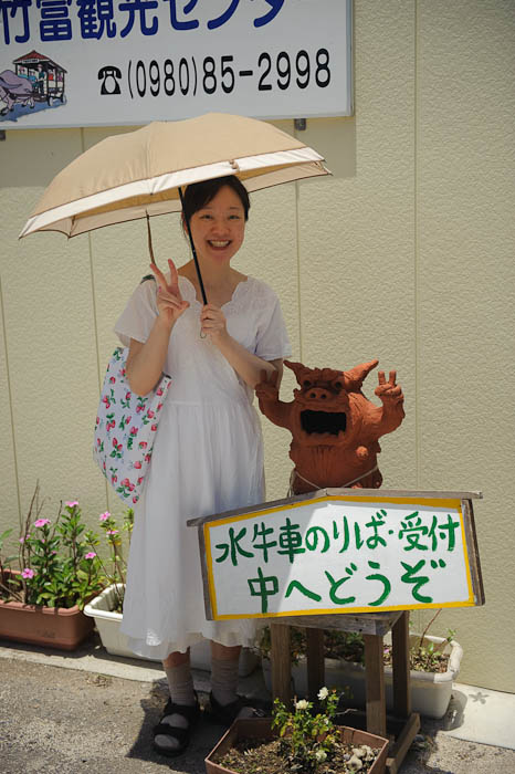 Touristy Photo Op -- Taketomi Island, Okinawa, Japan -- Copyright 2009 Jeffrey Friedl, http://regex.info/blog/