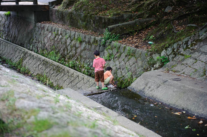 It has Sticks to Poke With Gen and Anthony -- Ojigaoka Park -- Otsu, Shiga, Japan -- Copyright 2009 Jeffrey Friedl, http://regex.info/blog/