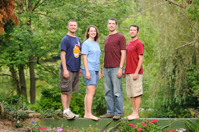 Four Siblings Alan, Marci, Me (Jeff), Mike Steve, oldest of the five, not pictured -- Rootstown, Ohio, USA -- Copyright 2009 Phyllis Friedl, http://regex.info/blog/
