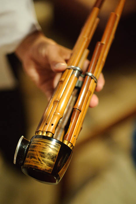 Shou — Bamboo Reeded Instrument -- Kyoto, Japan -- Copyright 2009 Jeffrey Friedl, http://regex.info/blog/