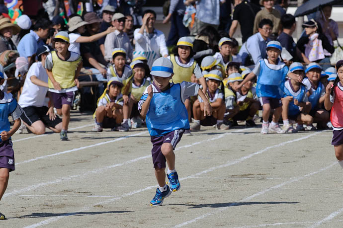 Out of the Blocks staggered start -- Kyoto, Japan -- Copyright 2009 Jeffrey Friedl, http://regex.info/blog/