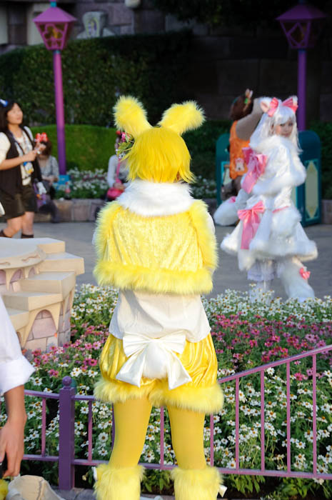 Yellow Idunno Taking Photo of White Idunno -- Tokyo Disneyland -- Urayasu, Chiba, Japan -- Copyright 2009 Jeffrey Friedl, http://regex.info/blog/