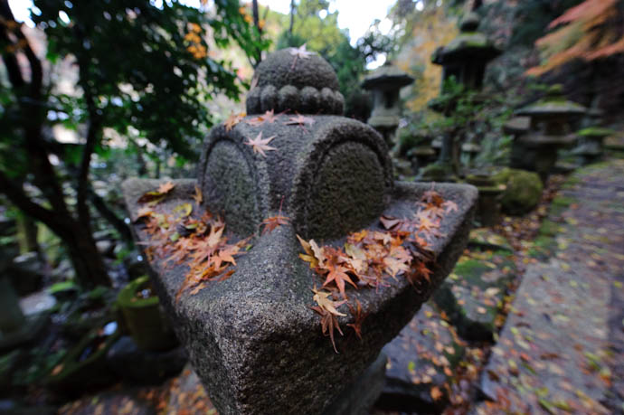 Warp Speed Ahead! Darth Vader's Imperial Star Destroyer in Stone -- Nishimura Stone Lantern workworkshopshop and garden -- Kyoto, Japan -- Copyright 2009 Jeffrey Friedl, http://regex.info/blog/