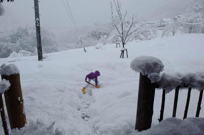 Enthusiasm of Youth Anthony was all excited to shovel the walk -- Tonami, Toyama, Japan -- Copyright 2010 Jeffrey Friedl, http://regex.info/blog/