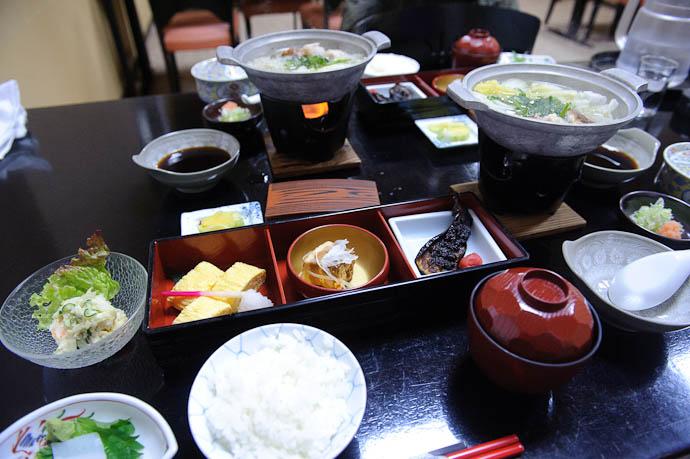 Breakfast Awaits The food at this place was surprisingly good -- Tonami, Toyama, Japan -- Copyright 2010 Jeffrey Friedl, http://regex.info/blog/
