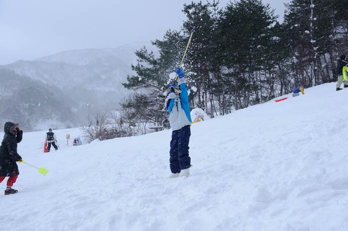 Probably Wishes He Missed This One two words:  face · splatter -- Makino Ski Area -- Takashima, Shiga, Japan -- Copyright 2010 Jeffrey Friedl, http://regex.info/blog/