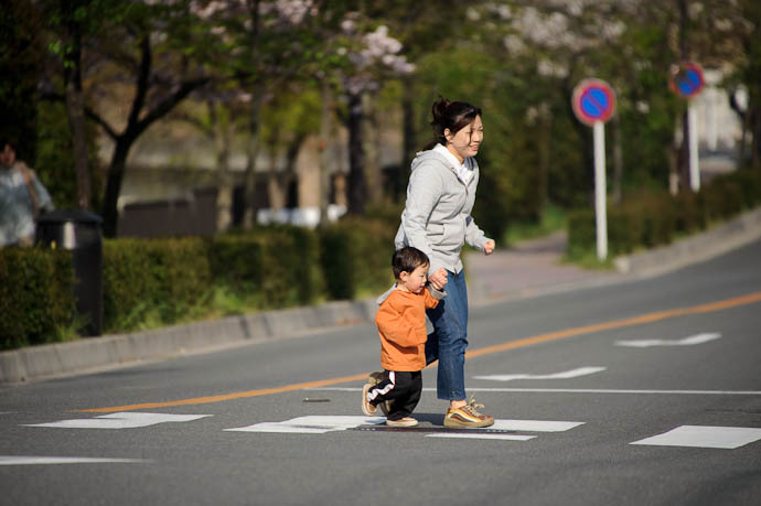 Crossing a Road -- Kyoto, Japan -- Copyright 2010 Jeffrey Friedl, http://regex.info/blog/