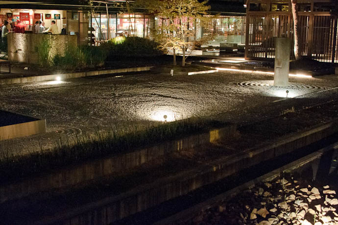 Restaurant Rock Garden at Night -- Kyoto, Japan -- Copyright 2010 Jeffrey Friedl, http://regex.info/blog/