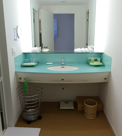 Vanity Spacious bath is in a room at left; toilet is in a room at right -- Westin Awaji Hotel -- Awaji, Hyogo, Japan -- Copyright 2010 Jeffrey Friedl, http://regex.info/blog/