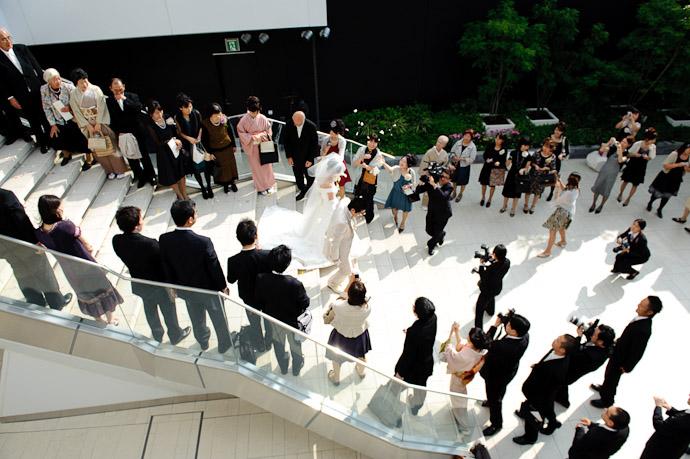 Gauntlet of Petals -- Wedding of Shogo and Namiko -- Nagoya, Aichi, Japan -- Copyright 2010 Jeffrey Friedl, http://regex.info/blog/
