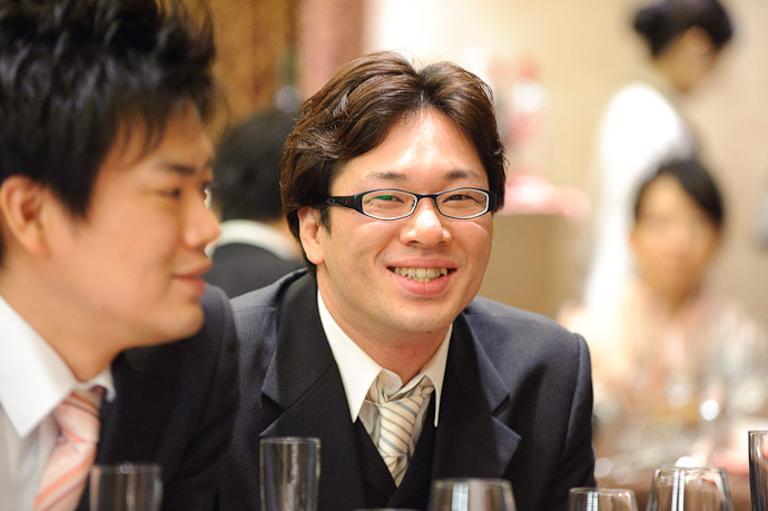 Something About This Smile reminds me of Zach Braff -- Wedding of Shogo and Namiko -- Nagoya, Aichi, Japan -- Copyright 2010 Jeffrey Friedl, http://regex.info/blog/