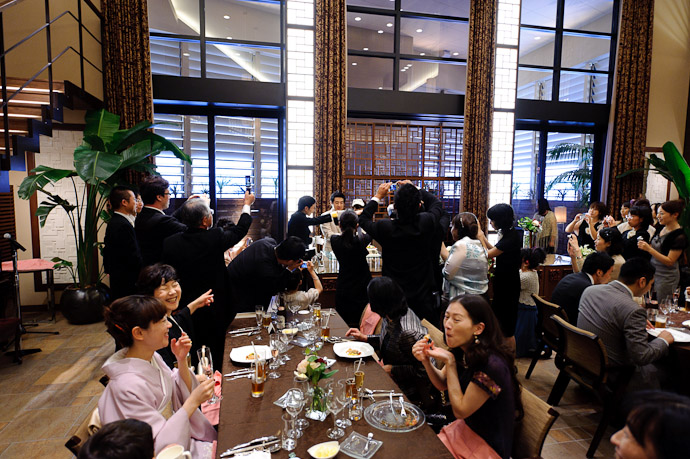 About To Cut the Cake -- Wedding of Shogo and Namiko -- Nagoya, Aichi, Japan -- Copyright 2010 Jeffrey Friedl, http://regex.info/blog/