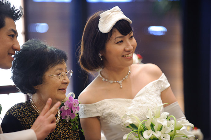 "Lesson Learned ""If the bride is in frame, she should be in focus."" -- Wedding of Shogo and Namiko -- Nagoya, Aichi, Japan -- Copyright 2010 Jeffrey Friedl, http://regex.info/blog/"