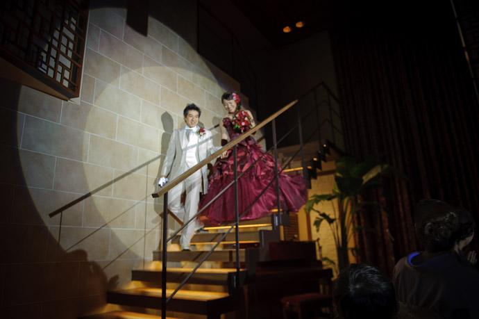 All Eyes (and Spotlights) on the Couple -- Wedding of Shogo and Namiko -- Nagoya, Aichi, Japan -- Copyright 2010 Jeffrey Friedl, http://regex.info/blog/