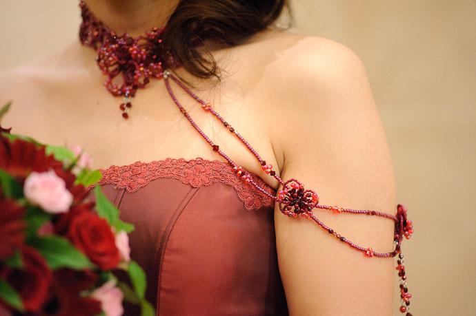 Dress Detail -- Wedding of Shogo and Namiko -- Nagoya, Aichi, Japan -- Copyright 2010 Jeffrey Friedl, http://regex.info/blog/