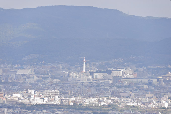 Kyoto Tower 11.76km away -- Yoshiminedera Temple (善峯寺) -- Kyoto, Japan -- Copyright 2010 Jeffrey Friedl, http://regex.info/blog/