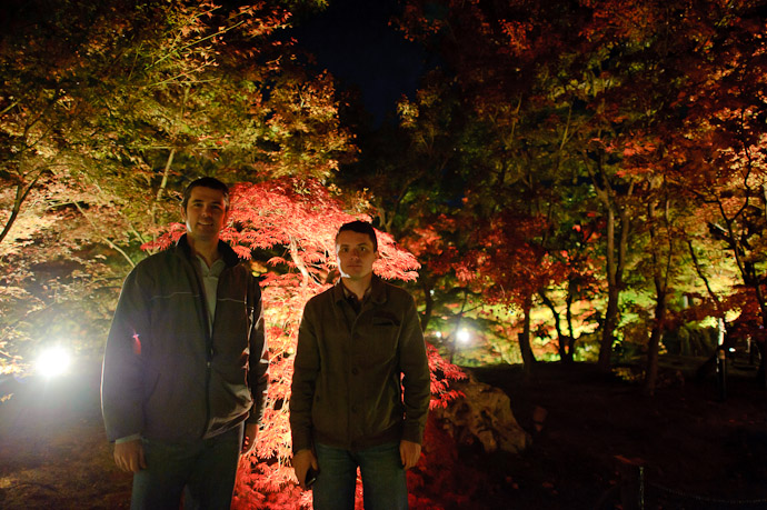 Me With Sergey Kolychev Last night at the Eikando Temple, Kyoto Japan -- Eikando Temple (永観堂) -- Copyright 2010 Jeffrey Friedl, http://regex.info/blog/