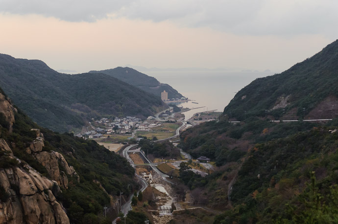 View Down to the Village -- Shodoshima, Kagawa, Japan -- Copyright 2010 Jeffrey Friedl, http://regex.info/blog/