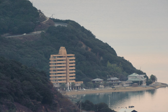 There's Our Hotel -- Shodoshima, Kagawa, Japan -- Copyright 2010 Jeffrey Friedl, http://regex.info/blog/