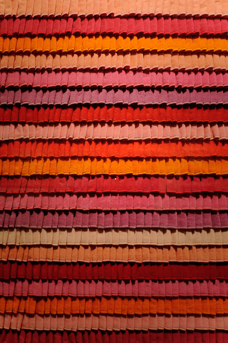 desktop background image of a piece of art made from layered hand towels, at the Towel Museum in Imabari, Japan -- Layered-Towel Art -- Imabari, Ehime, Japan -- Copyright 2011 Jeffrey Friedl, http://regex.info/blog/
