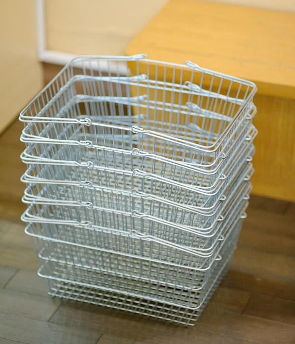 Stack of Wire Baskets -- Towel Museum -- Imabari, Ehime, Japan -- Copyright 2011 Jeffrey Friedl, http://regex.info/blog/