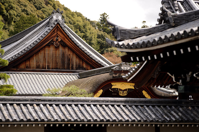 Many Layers of Roofs -- Sennyuji Temple(泉涌寺) -- Kyoto, Japan -- Copyright 2011 Jeffrey Friedl, http://regex.info/blog/