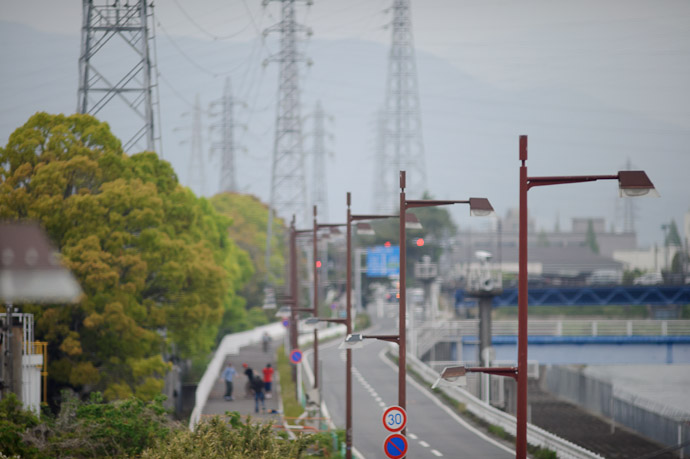 Serendipity at 239.1 km/h shot out the window from a bullet train going 150mph -- On a Shinkansen heading south -- Odawara, Kanagawa, Japan -- Copyright 2011 Jeffrey Friedl, http://regex.info/blog/