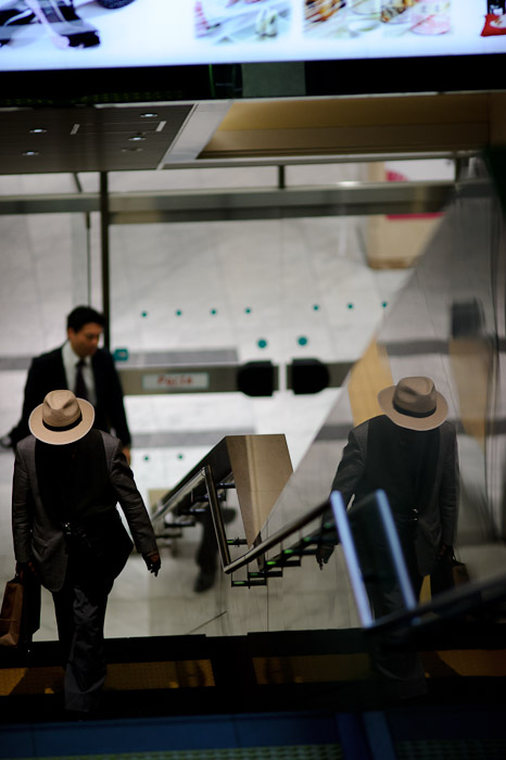 Man of Mystery -- Kyoto Station (京都駅) -- Kyoto, Japan -- Copyright 2011 Jeffrey Friedl, http://regex.info/blog/