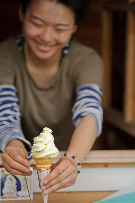 "we dubbed her ""Ice-Cream Girl"" -- Uji, Kyoto, Japan -- Copyright 2011 Jeffrey Friedl, http://regex.info/blog/"