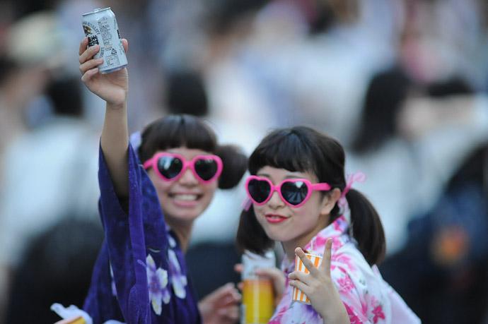 Beer Kirin Tanrei Nama -- Gion Matsuri (祇園祭) -- Kyoto, Japan -- Copyright 2011 Jeffrey Friedl, http://regex.info/blog/