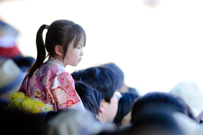 Kids in Kimono always cute (such as these ) -- Gion Matsuri Shinkousai (祇園祭、神幸祭) -- Kyoto, Japan -- Copyright 2011 Jeffrey Friedl, http://regex.info/blog/