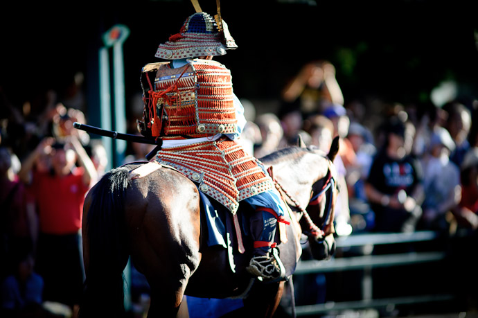 Mounted Warrior -- Gion Matsuri Shinkousai (祇園祭、神幸祭) -- Kyoto, Japan -- Copyright 2011 Jeffrey Friedl, http://regex.info/blog/