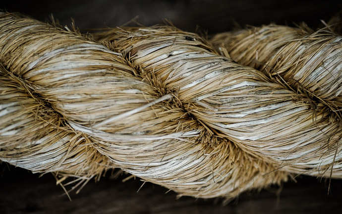 a thick Japanese ornamental twine rope