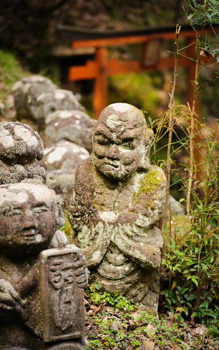 desktop background image of a scene at the Otagi Nenbutsuji Temple (愛宕念仏寺) -- though this guy Seems Grumpy -- Otaginenbutsuji Temple (愛宕念仏寺) -- Kyoto, Japan -- Copyright 2012 Jeffrey Friedl, http://regex.info/blog/ -- This photo is licensed to the public under the Creative Commons Attribution-NonCommercial 4.0 International License http://creativecommons.org/licenses/by-nc/4.0/ (non-commercial use is freely allowed if proper attribution is given, including a link back to this page on http://regex.info/ when used online)