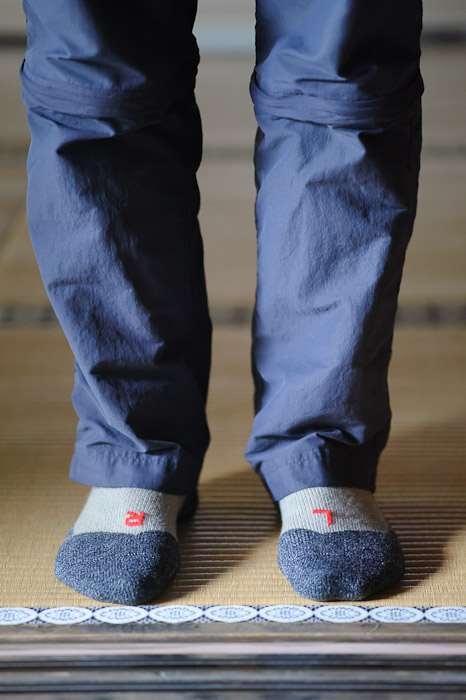 Built-in Navigation this guy's socks reminded me of this photo on my recent post about my wife's ballet shoes  --  Koumyou-in Temple (光明院)  --  Kyoto, Japan  --  Copyright 2012 Jeffrey Friedl, http://regex.info/blog/