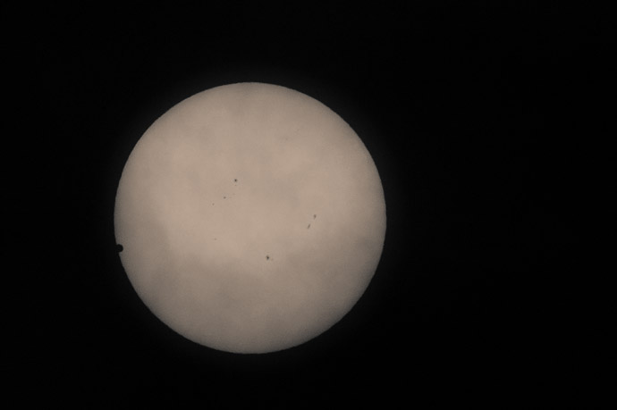 Venus Between the sun a