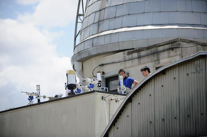 Telescopes Everywhere  --  Kyoto University Kwasan Observatory (京都大学 花山天文台)  --  Kyoto, Japan  --  Copyright 2012 Jeffrey Friedl, http://regex.info/blog/